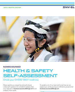 ISO 45001 Self assessment brochure