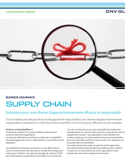 Flyer DNV GL Solutions pour une supply chain efficace et responsable